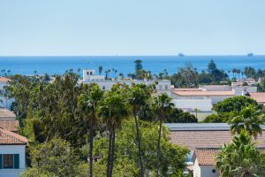 Santa Barbara history with a view of the ocean