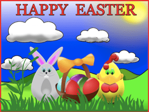 Cute Easter Graphic for Easter in Santa Barbara