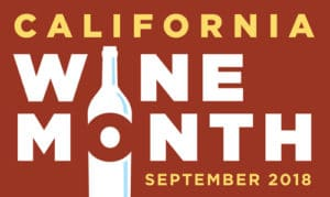 Califonia Wine Month logo to show how you can enjoy  glass of Pinot Noir