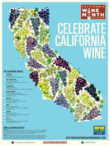 Map of Califonia Wine Month to show where to find Pinot Noir