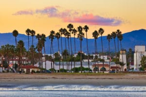 View on Santa Barbara from the pier to show healthy living