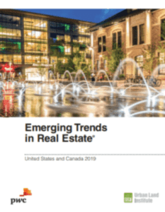 A picture of theEmerging Real Estate Trends 2019 Report