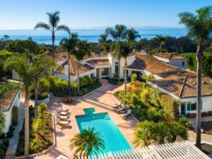 A beautiful ocean view estate listed by Realtor Cristal Clarke in the Montecito CA enclave of Ennisbrook