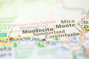 Map of Montecito