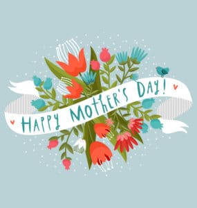 Happy Mother's Day 2019 floral greeting