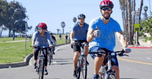 Cyclers enjoying the great outdoors in Santa Barbara