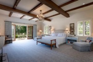 A sample of a master suite sanctuary inside a Montecito home for sale