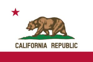 Illustration of the flag of California state in America for California Statehood Anniversary