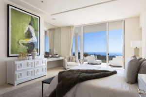 Monteciot bedroom in home for sale with amazing ocean view