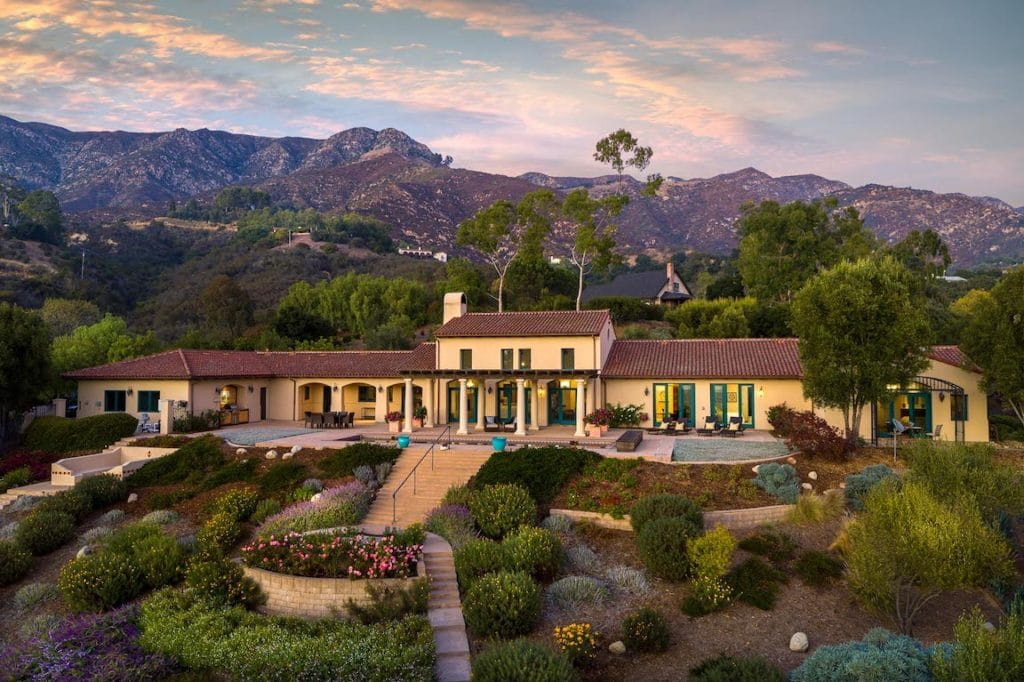 Beautiful estate illustrating whyMontecito is the best place to live in the Santa Barbara area