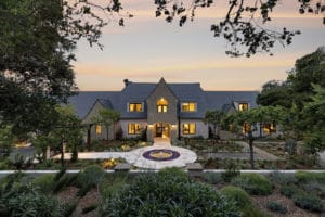 The front of a Montecito home for sale