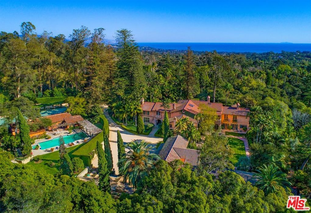 Birds Eye View of Luxury Santa Barbara home for sale by Cristal Clarke