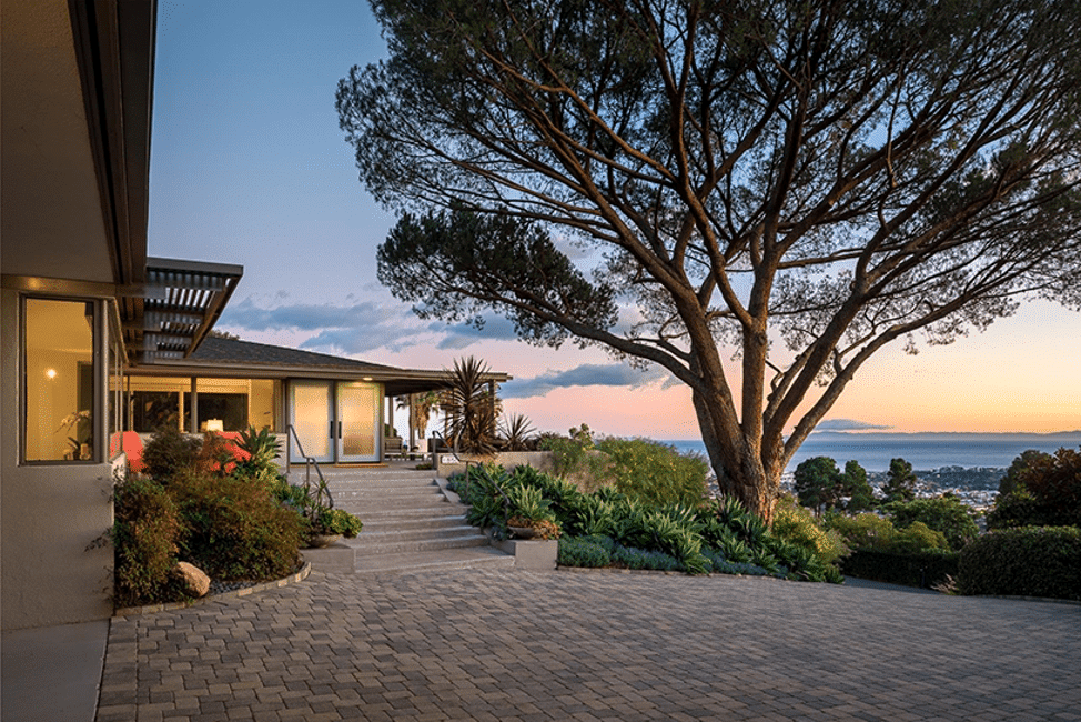 Striking Mid Century Modern home for sale in Montecito