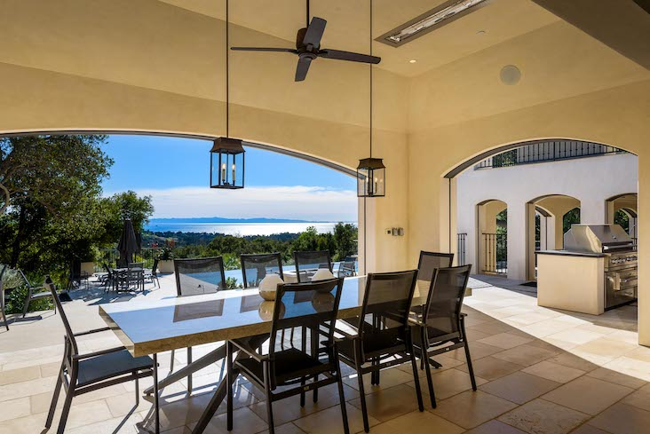 Hold Thanksgiving on your patio like this one from a Montecito home for sale